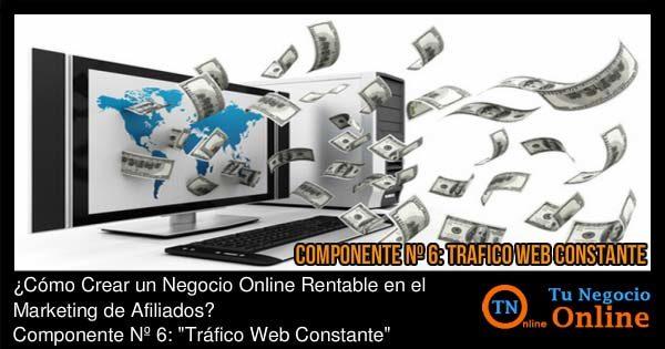 Negocio Online Rentable Marketing de Afiliados, Tráfico Web Constante